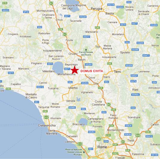 Domus Civita   Location